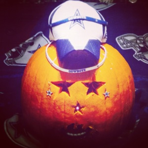 Dallas Cowboys Pumpkin