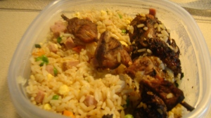 Fried Rice & Shish-kabob