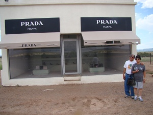 My parents get in on the Prada action!