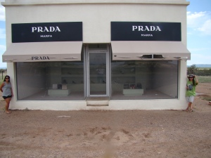 Joanne & I rock out Prada in West Texas!