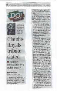 Claudie Royals 2015