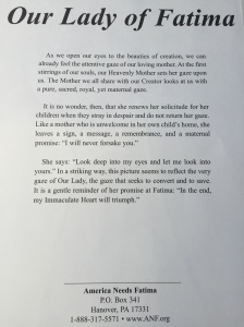 Our Lady of Fatima Prayer