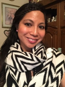 Chevron-Striped Scarf