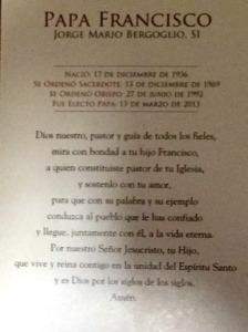 Pope Francis Prayer